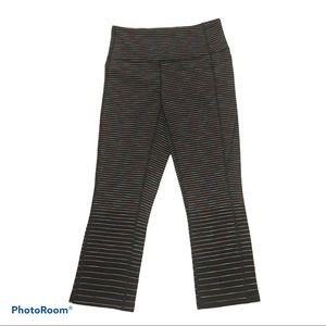 Lucy striped Capri leggings